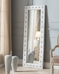 Image Wall Mirrors Image Unavailable Amazoncom Amazoncom Kings Brand Furniture Modern Upholstered Tufted Standing