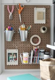 closet home office. Pegboard Storage In A Closet - Turned Home Office