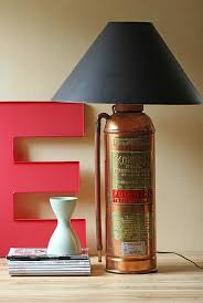 last year when i spotted a pair of vintage fire extinguishers i thought lamp