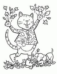Small Picture Funny Autumn Day coloring pages for kids fall leaves printables
