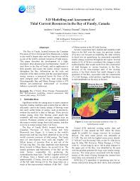 Pdf 3 D Modelling And Assessment Of Tidal Current Resources