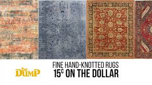 the dump rug hand knotted rugs at 15 on the dollar