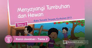 Buku tematik tema 8 kelas 2 sd berjudul keselamatan di rumah dan. Kunci Jawaban Buku Siswa Tematik Kelas 3 Tema 2 Menyayangi Tumbuhan Dan Hewan Ruang Edukasi
