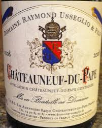 Image result for raymond usseglio chateauneuf du pape 1999