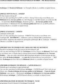 Cours De Dessin Technique Travaux Publics Et Batiment Pdf Pdf