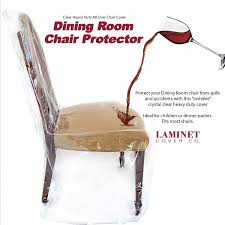 laminet heavy duty crystal clear dining chair protectors protects your dining room chair all over from dust dirt spills pet hair and dander