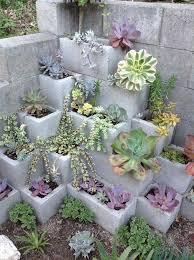garden blocks. Cinder Block Vertical Garden Blocks