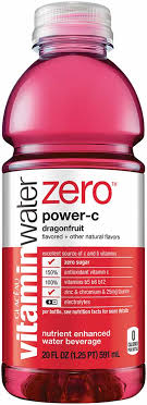 Vitamin Water Nutrition Chart Glaceau Vitaminwater Power C 20 Oz Product Facts
