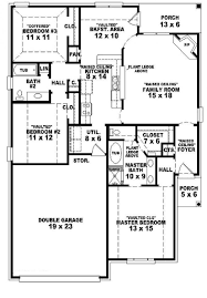 Small 2 Bedroom 2 Bath House Plans Design680581 Three Bedroom Two Bath House Plans 653624