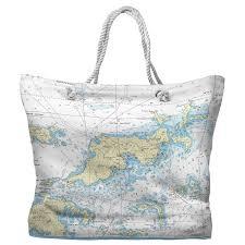 Bvi Navigation Charts Tortola Virgin Gorda Bvi Nautical Chart Tote Bag 2 Different Sides