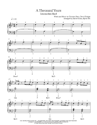 a thousand years piano sheet music a thousand years by christina perri piano sheet music intermediate