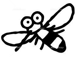 蚊 デフォルメ 白黒 イラスト素材 5173858 無料 フォトライブ