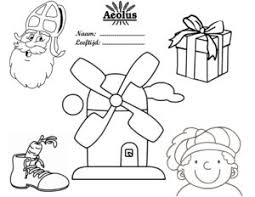 Sinterklaas Kleurplaat Molenwinkel Aeolus
