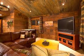 tin ceiling ideas crosswater ski lodge rustic family room portland scott