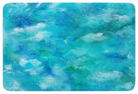 rosie brown ocean waters blue aqua memory foam bath mat contemporary bath mats by kess global inc