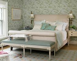 tufted upholstered sleigh bed. Simple Upholstered Seafoam Green Blue U0026 French Country Bedroom Design With  Wallpaper In A French Bedroom Tufted Upholstered Sleigh Bed Gorgeous  In Upholstered Sleigh Bed