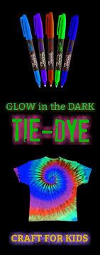 fun kid craft make tie dye t shirts that glow in the dark