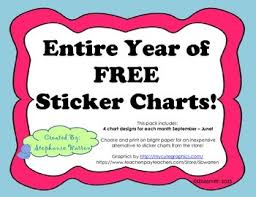 Free Sticker Charts Entire Year Of Free Sticker Charts