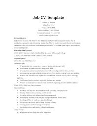 Job Resume Templates Resume For Your Job Application