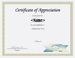 free templates for certificates of appreciation certification document template certificate of appreciation template