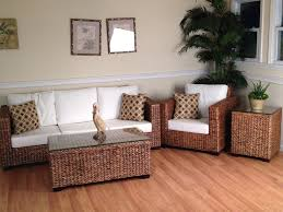 outdoor white wicker furniture nice. Wicker Sunroom Furniture Los Cabos Seagrass Set Of 4 Outdoor White Nice