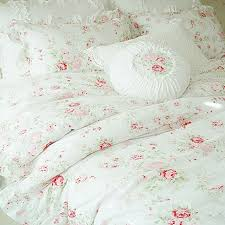 white romance duvet cover set