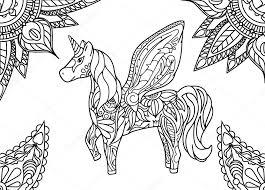 Kleurplaten Mandala Paard