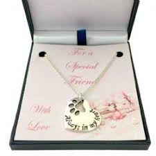 always in my heart pet loss necklace