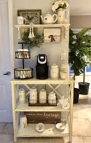 Rae dunn 3 shelf washroom rack. Rae Dunn Coffee Bar Coffee Bar Coffee Bar Home Farmhouse Coffee Bar