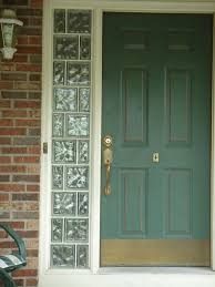 entry door sidelights with glass blocks