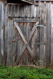 Antique Photograph - Rustic Old Wooden Barn Door by Heather Reeder