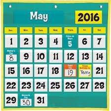 Classroom Calendar Pocket Chart Space Saver Calendar Pocket Chart Plsa Wish List