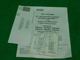 Dometic Rm2652 Check Light Dometic 3311145 000 2 Way Refrigerator Secondary Burner Housing Kit