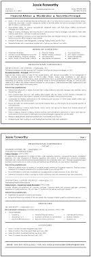 Finance Resume Sample Financial Advisor Stockbroker