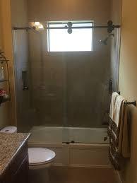 alum glass barn shower door