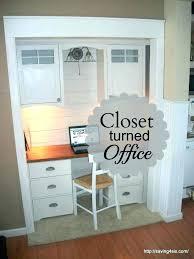 turn closet into office walk in