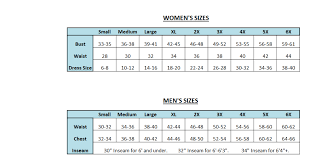 Sizing Chart For Adaptive Clothing Resident Essentials