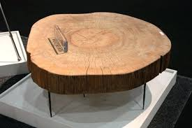 round wood side table top