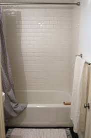 bathroom subway tile. The Two-Week Budget Bath Remodel | Remodelista For Shower Surround, We Chose Bathroom Subway Tile