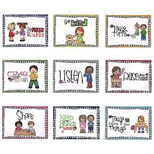 Good Habits Chart For School Bigpanda 9 Pack A4 Paper Size Class Rule Poster Classroom