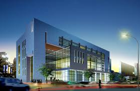 modern office buildings. Evening Mirrored Minimal Modern Office Building With Glass Grid Architecture A Buildings