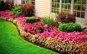 how to edge a flower bed with stone