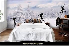 ski lodge decor winter cabin decorating ski resort bedroom ideas winter wall murals