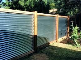 galvanized metal fence corrugated metal fence ideas galvanized roof fence medium size of metal panels wood