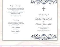 Booklet Program Template Free Catholic Wedding Program Template Download Booklet Style
