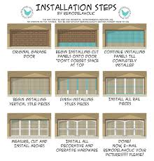 how to frame a garage doorRemodelaholic  Ugly Garage Door BeGone Carriage Door Tutorial