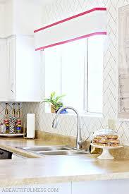 faux herringbone tile diy kitchen backsplash ideas a beautiful mess