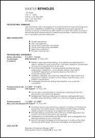 Textile Lab Technician Sample Resume Www Sfeditorwatch Com
