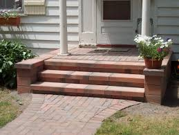 Nice Front Porch Step Designs With Naturan Brick Front Porch Step - Exterior brick repair