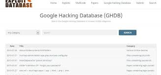 use google to hack googledorks